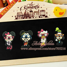Wholesale Mickey House funny Refrigerator stickers cartoon Fridge magnets Stickers Notes Memo Kids Best Gift