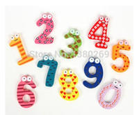 animal fridge magnets for kids - Hotsale Wooden Number Lovely Fridge Magnets Toy Set for Kids Children New A1813 BR