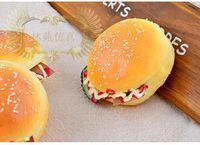 animal bakery - 24pcs cm Squishy bread PU Round Hamburgs Decoration bakery sample model gift