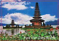 bali photo - Rectangle Rigid Magnets mm Pura Ulun Danu Bratan Photo Fridge Magnets Bali Tourist Memorabilia Gift