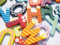 animal fridge magnets for kids - 26pcs Wooden Alphabet Letters Fridge Magnets For Kids Educational Toys Gift Set Home Decor Refrigerator Magnets