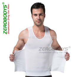 zerobodys mens corset beam waist slimming body shaper girdle Shapewear Fat burning bodysuit fitness vest abdomen XL Black white