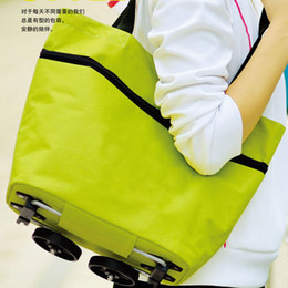 Wholesale Multifunctional Foldable Shopping Trolley Bag With Wheels Reusable Shopping Bags Large Shopping Cart Baggage