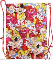 alice bag - New Cute Alice in Wonderland Painted family shipping bag backpack Bag Pocket bag