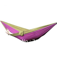 Confortable Nylon Hammock Suspendre Bed Sleeping Heavy Duty Double Taille Avec expédition Sac New gratuit