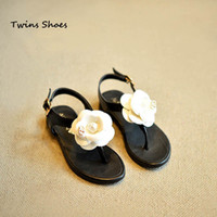 baby thong sandals - baby shoes for girls sandals kids girls thong sandals leather shoes children flower sandals girls beach sandals shoes black