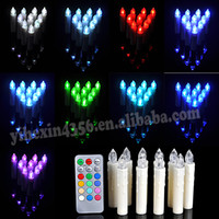 Wholesale Party Wedding Christmas New Year Home Tree Decoration Wireless Remote Control Color birthday Led Candle Light