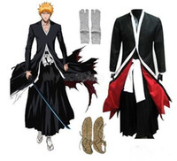 Wholesale Newest Anime Bleach Cosplay Bleach Ichigo Kurosaki Men s Bankai Kurosaki Ichigo Cosplay Costume