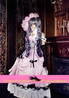 Wholesale Black Butler Ciel Phantomhive women s pink Dress Cosplay Costume