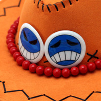 ace sun - One Piece cm hot sale Anime One Piece Portgas D Ace Hat sun Cap Cosplay hat color retail EW H AP