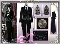 Wholesale Black Butler Sebastian Michaelis Costumes Anime Cosplay Costume