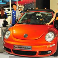 Cílios carro, acessórios do carro, Cílio / Auto 3D 3D Logo Sticker presentes - 60pairs / lot