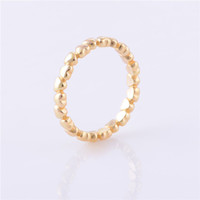 Wholesale 925 Sterling Silver Charm Ring Gold Plated Heart Women Fashion perfect christmas gift Suitable for Pandora Style Jewelry