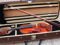 Wholesale FULL SIZE VINTAGE CONCERT GERMAN VIOLIN FIDDLE BOW BLACK CASE c