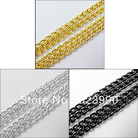 anodized aluminum rings - M Anodized Aluminum Chain Link Cord Chain mm Ring Gold Silver Blck For For Jewelry Making Craft DIY Craft DIY
