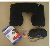 Wholesale Travel Three Kit Pillow Eyecover Earphone U Neck Gras