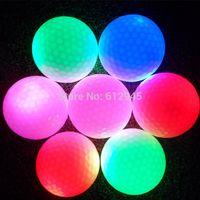 golf ball led - Factory Direct Luminous night LED Golf Ball Training Exercise Ball