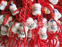 Charm Bracelets Celtic Unisex Wholesale-10pcs lot Ceramic Lucky Cat red string bracelet online shop Gift cheap portable small decorative Rope chain charm bracelets