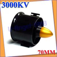 electric fan motor - 70mm duct fan kv Motor Spindle mm for jet RC EDF