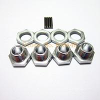aluminum set screws - HSP Spare Parts Tires Adapter Wheel Nut mm Aluminum Hex Hubs with Pins Set Screws For Nitro Ofna Hyper Buggy