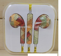 painting studio - Painted color phone headset wire Ear Headphones