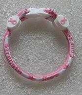 Cheap Wholesale-Breast cancer awareness bracelet Titanium bracelet