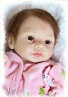 Cheap HOT 20 inch Ultra - simulation baby dolls lifelike dolls  reborn baby girl doll