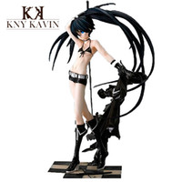 Cheap PVC Action Figure Black Rock Shooter Japanese Sex Hot Toys Doll For Children Beauty Figure Baby Toys High Quality 26cm