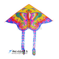 Wholesale large butterfly kite beautiful butterfly kite heat transfer kite fast service eco friendly toys kids kite