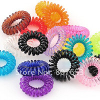 Wholesale freeshipping s Korean style Elastic Hair Ring Bands candy color ponytail holders womens Girl s Rubber Hair Ties Headband