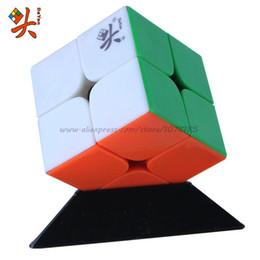 Descuento dayan juguete DaYan 2x2 V1 (ZhanChi 2x2) Cubo Mágico 46mm / 50mm velocidad Cubo Rompecabezas kub velocidad mágico que aprenden los juguetes del cubo de juguete Juego de la educación