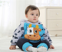 baby bull - 2015 NEW children s winter clothing sets with cow bull style baby winter suit and pant boys amp girls winter outwear C168