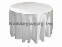 Wholesale 10 Round White Satin Tablecloth Cheap Table cloth for wedding