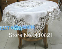 beautiful dining table - 36 quot white beautiful lace table cloth overlay for dining table and home decorations free ship