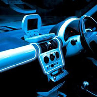 Wholesale NEW Color Ft m Blue EL Wire Neon wire electrolumines wire with VDC Car Sound Activated Set