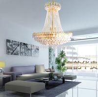 Wholesale Royal Empire Golden Crystal chandelier Light French Crystal Ceiling Pendant Lights