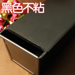 Wholesale-450g black non-stick baking mold with a slide box toast toast bread mold oven box with silk box
