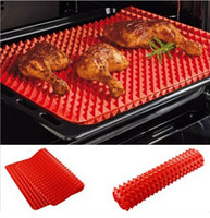 bake pans - Red Pyramid Pan Nonstick Silicone Baking Mat Mould Cooking Mat Oven Baking Tray