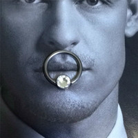big nose men - Amazing Big CZ Diamond Faux Nose Septum Ring Whole G23 Titanium Women Men Body Piercing Jewelry