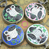 big buyers - Coupon for buyer price good quality vine classic big bronze colorful enamel owl pocket watch necklace with chain