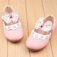 Wholesale The new age season children s shoes Girls shoes Bowknot is single shoes The princess flat shoes