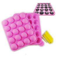 Wholesale Silicone Cake Moulds Wholesale - Retail Fondant tools 20 lollygags silica gel cake mould chocolate lollipop pop cake mold (XP)
