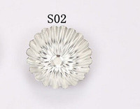 cake tins - 4PCS Size Chrysanthemum Shape Egg Tart Aluminum Cupcake Cake Cookie Mold Lined Mould Tin Baking Tool