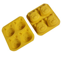 baking grid - Cute Cartoon Silicone Chocolate Small Cake Bakeware Ice Molds Cute Bear Grids Baking Forms