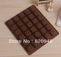 alphabet ice cubes - Alphabet Letters Blank DIY Jelly Ice Cube Tray Cookie Silicone Mould Baking Mold