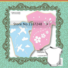 Wholesale 3pcs Stencils Cookies Cutter Baby Clothes Design Stencils Biscuit Cutter Cookies Cutting Mold Styling Tools