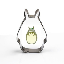 Wholesale Cartoon totoro stainless steel cookie mould pieces baking tool