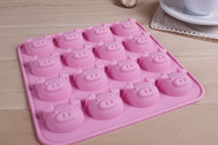 animal shapes tray - Top Quality DIY Mold cavities Cute Lovely Pig Cartooon Animals Shape Ice Cube Mold Tray P54