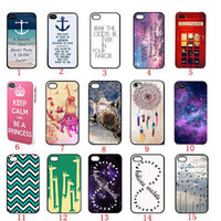 Cheap Wholesale-Low prices High quality The Pretty fashion Painted plastic crust Cell phone case For iPhone 4s 4 F S