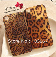 Cheap Wholesale-New Leopard Print Hard Back Cover Case for iPhone 4 4S (Multi-Color)